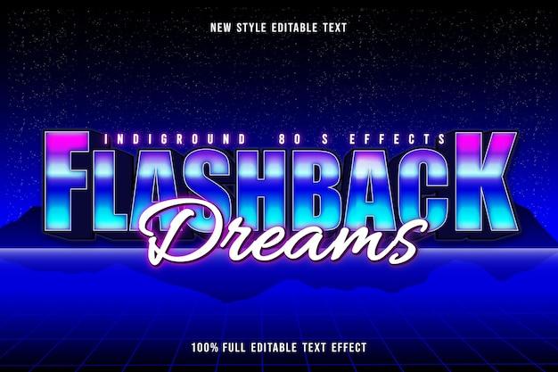 Flashback dreams editable text effect retro style