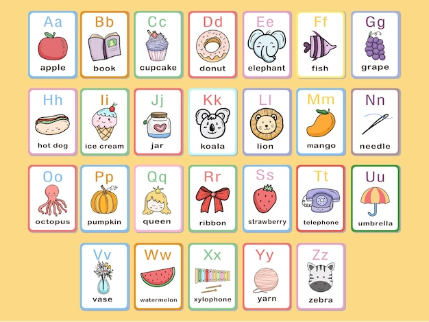 Карточный алфавит и словарный запас для детей и младенцев