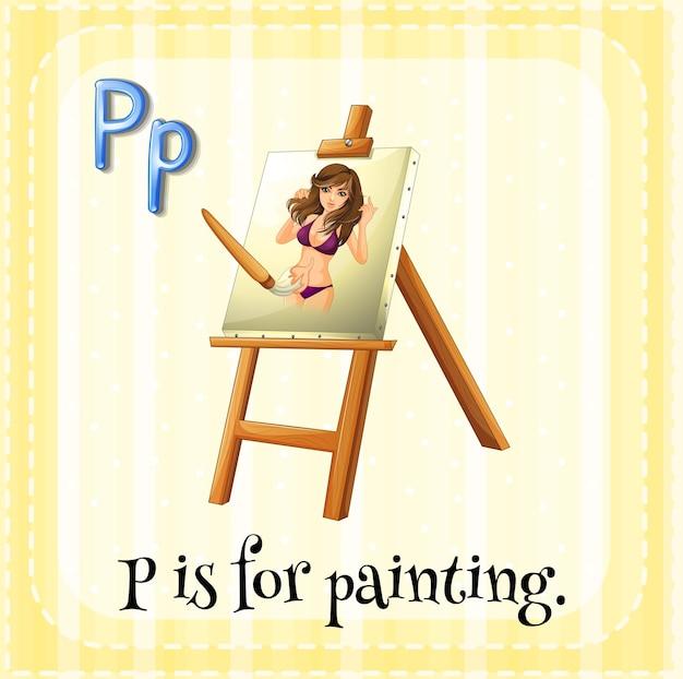 Алфавит p для карточек предназначен для рисования