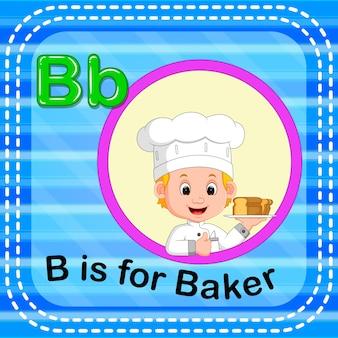 Flashcard letter b is for baker