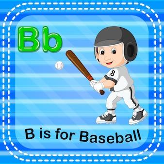 Flashcard letter b is for baseball