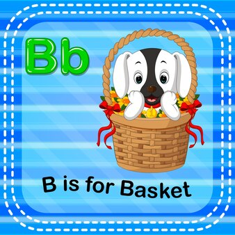 Flashcard letter b is for basket