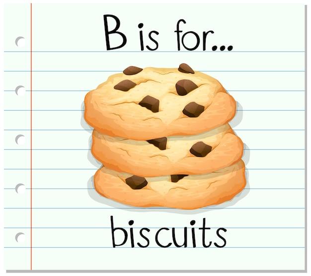 La lettera b della flashcard è per i biscotti