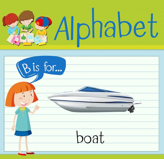 Flashcard letter b is for boat