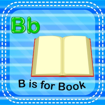 Flashcard letter b is for book