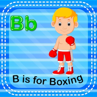 Flashcard letter b is for boxing