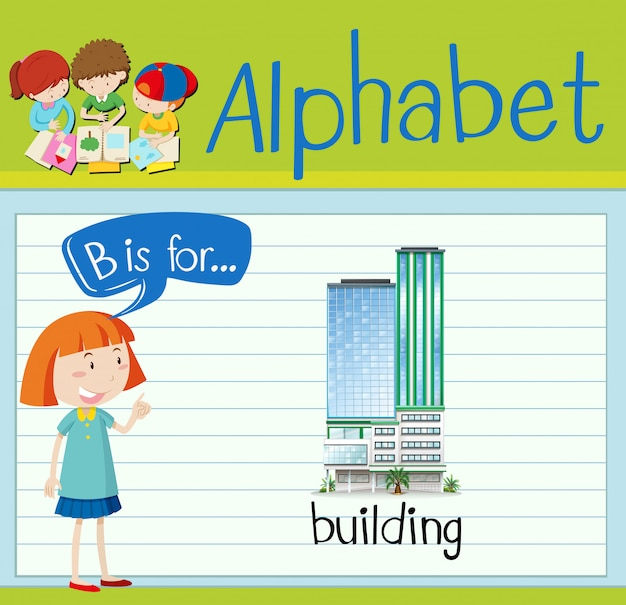 Flashcard letter b is for building