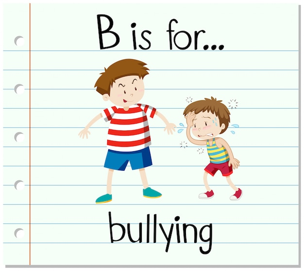 Flashcard letter b is for bullying