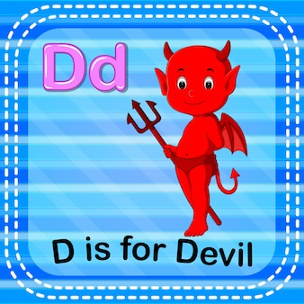 Flashcard letter d is for devil