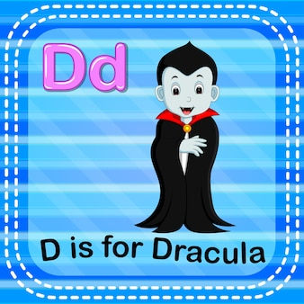 Flashcard letter d is for dracula
