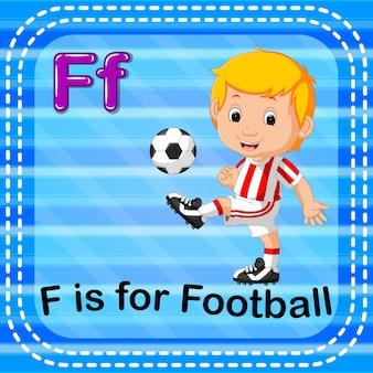 フラッシュカード文字fはサッカー用です