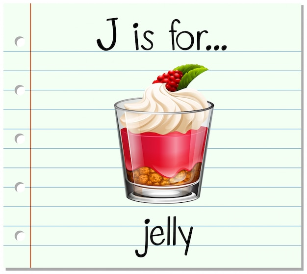 Flashcard letter j is for jelly
