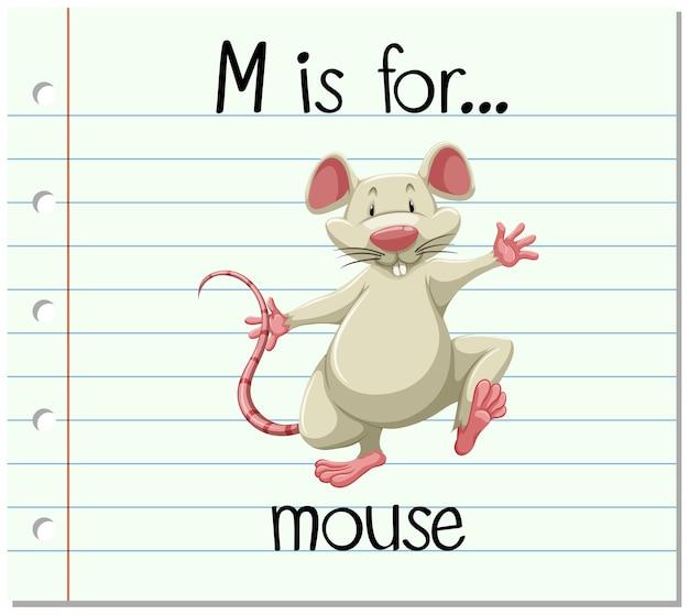 Flashcard 문자 m은 마우스용입니다.
