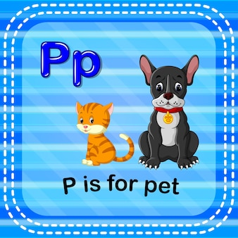 Flashcard letter p is for pet