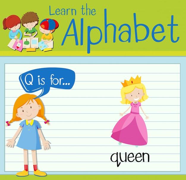 Буквенное письмо flash для королевы