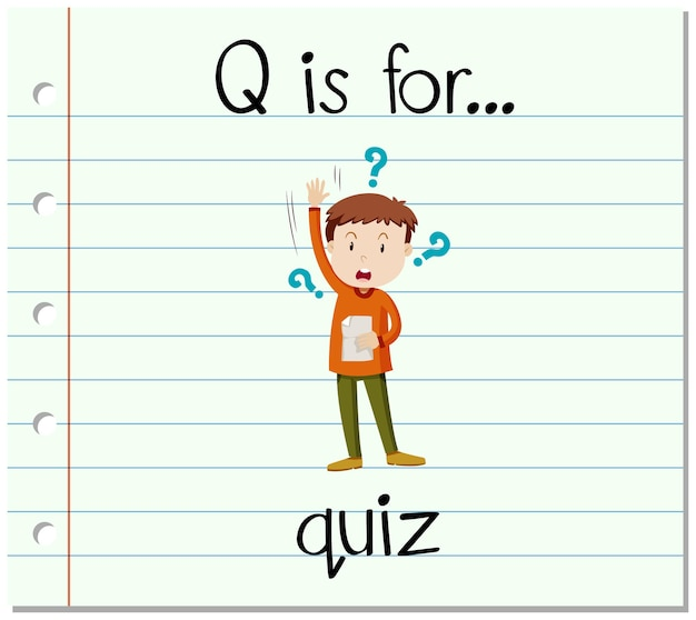 フラッシュカードの文字qはクイズ用です
