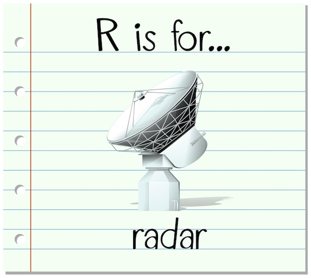 フラッシュカードの文字rはレーダー用です