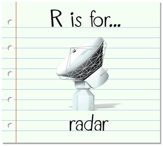 Flashcard letter r is for radar