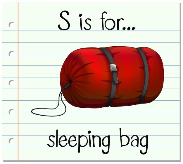 フラッシュカードの文字sは寝袋用です