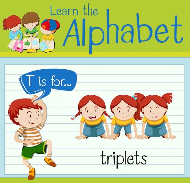 Буквенное обозначение t для триплетов
