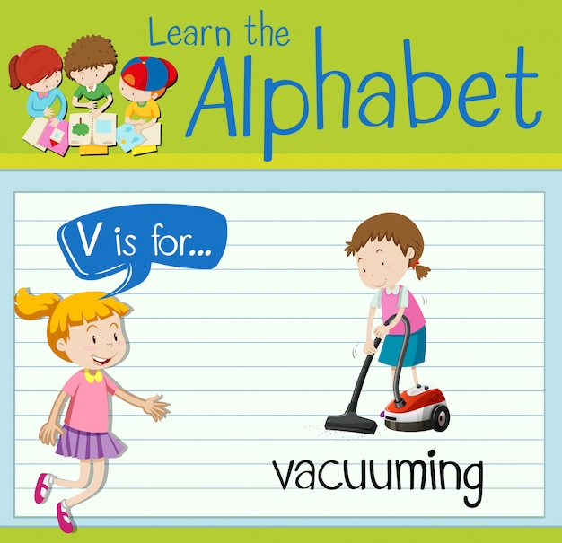 Буквенная буква v для пылесоса