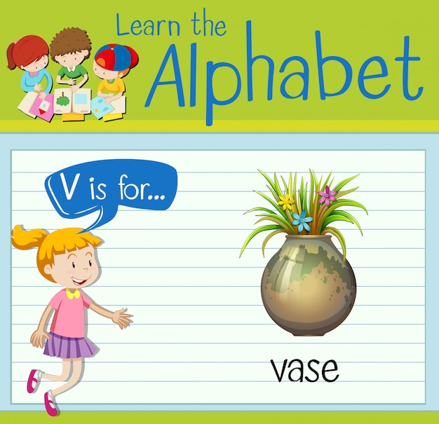 Буквенная буква v для вазы