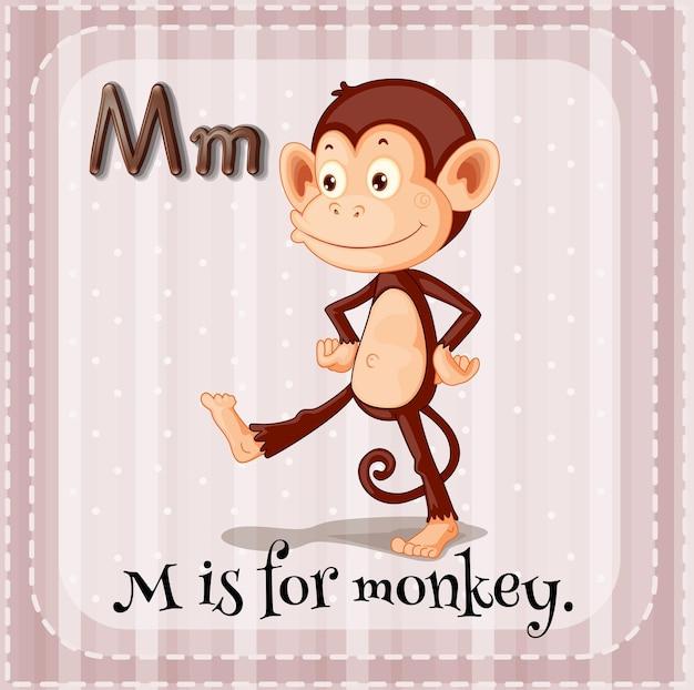 Flashcard m sta per scimmia