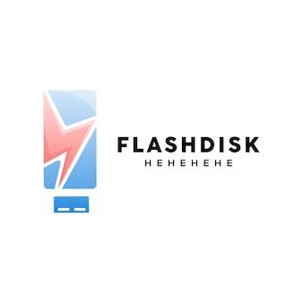 Шаблон логотипа на флеш-диске