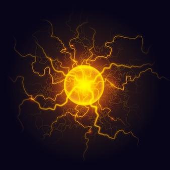 Flashing electric ball light
