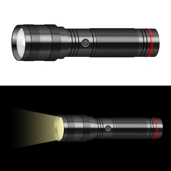 Flashlight   illustration  on background