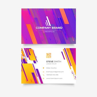 Flashy business card template