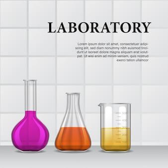 Flask for presentation or poster
