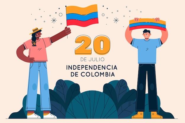 Flat 20 de julio - independencia de colombia illustration