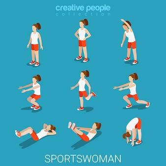 Piatto 3d isometrico stile sportivo maschio concetto di sport