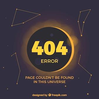 Modello di errore 404 piatto