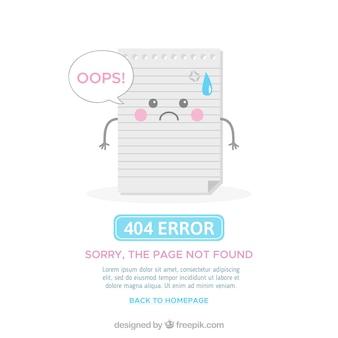 Flat 404 error template
