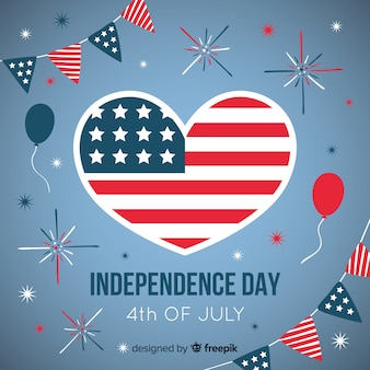 Flat 4th of july - independence day background