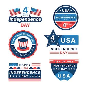 Piatto 4 luglio - collezione di badge per il giorno dell'indipendenza
