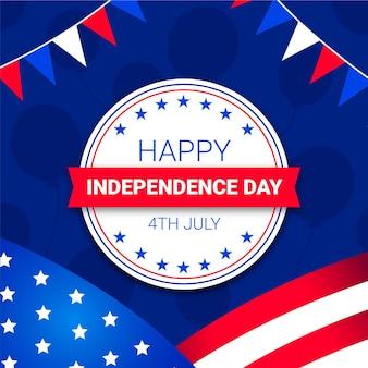 Piatto 4 luglio - illustrazione del giorno dell'indipendenza