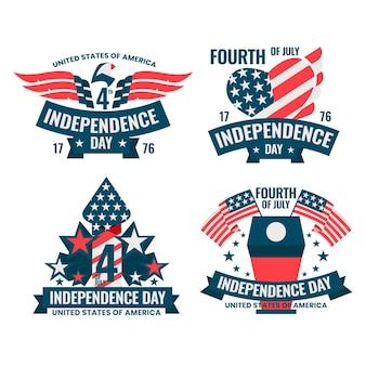 Piatto 4 luglio - raccolta di etichette del giorno dell'indipendenza