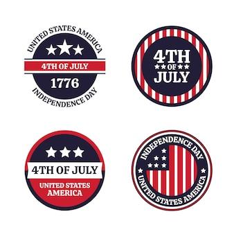 7月のフラット4日-独立記念日badgdeコレクション