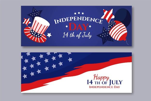 Квартира 4 июля - набор баннеров день независимости
