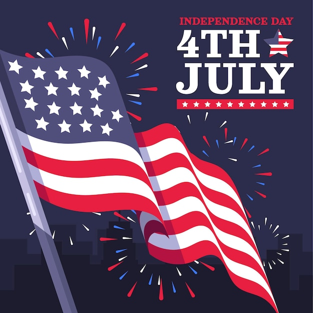 Квартира 4 июля - иллюстрация день независимости