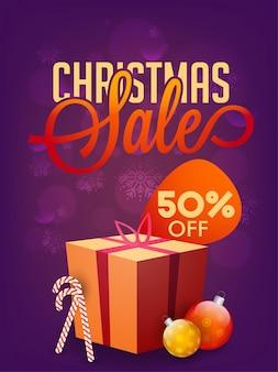 Предложение 50% на продажу рождественских праздников