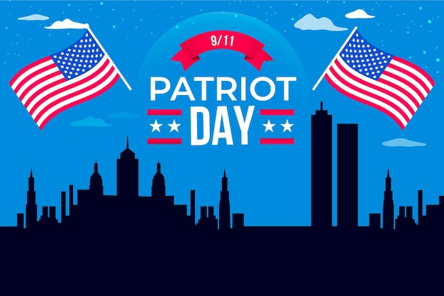 フラット9.11愛国者の日の背景