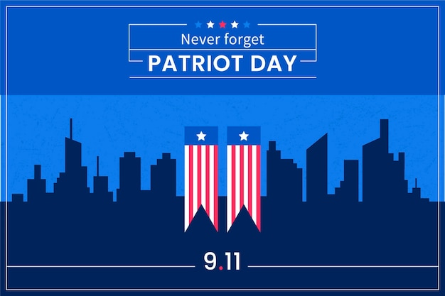 Flat 9.11 patriot day background