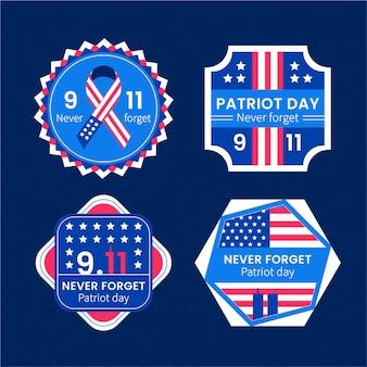 フラット9.11愛国者の日バッジコレクション