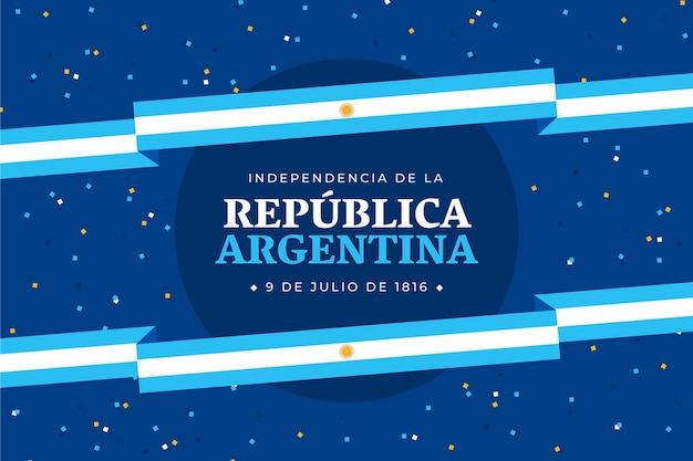 Квартира 9 де хулио - иллюстрация декларации независимости аргентины Premium векторы