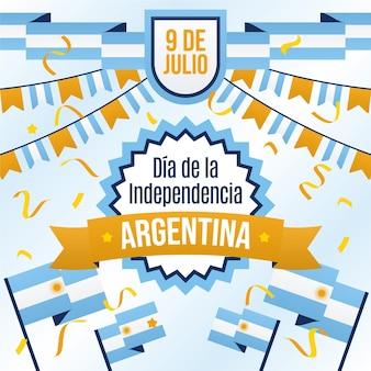 Квартира 9 де хулио - иллюстрация декларации независимости аргентины