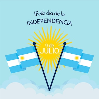 Flat 9 de julio-declaracion de independencia de la argentina 일러스트레이션